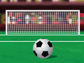 Soccer ball on the penalty spot Stock Photo