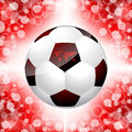 Soccer ball poster with red background Royalty Free Stock Images