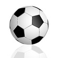 Soccer ball with reflection on white background Stock Photography