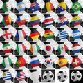 Soccer ball set balls with all national flags of the world championship Royalty Free Stock Photo