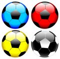 Soccer ball set vector Royalty Free Stock Photography