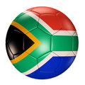 Soccer ball with south africa flag isolated 3d Stock Photo