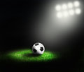 Soccer ball of stadium Royalty Free Stock Image