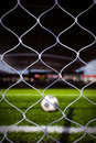 Soccer Ball in Stadium 3 Stock Photography