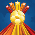 Soccer Ball with Stars Royalty Free Stock Photo