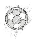 A soccer ball stylized vector illustration Stock Photography