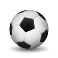 Soccer ball on white background vector illustration Royalty Free Stock Images