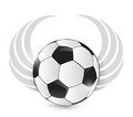 Soccer ball with wings. illustration design Royalty Free Stock Photo