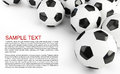 Soccer balls background Royalty Free Stock Photo