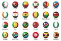 Soccer balls flags countries final tournament 2019 Africa Cup football