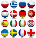 Soccer Balls With Flags For Euro 2012 Stock Photography