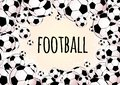 Soccer Balls Frame Isolated. F...