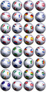 Soccer balls S-Africa World Cup Stock Photography