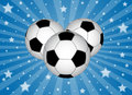 Soccer balls with stars Royalty Free Stock Photography