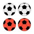 Soccer balls Royalty Free Stock Photo
