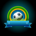 Soccer banner vector design elements are layered separately in vector file easy editable Stock Photography