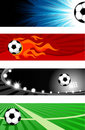 Soccer banners Royalty Free Stock Images