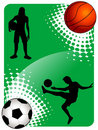Soccer and basketball Stock Photo