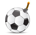 Soccer bomb illustration design over white design Stock Photo