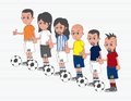 Soccer boy cartoon