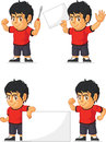 Soccer boy customizable mascot a vector set of a in several poses drawn in cartoon style this vector is very good for design that Royalty Free Stock Images