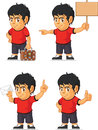Soccer boy customizable mascot a vector set of a in several poses drawn in cartoon style this vector is very good for design that Stock Photography