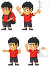 Soccer boy customizable mascot a vector set of a in several poses drawn in cartoon style this vector is very good for design that Royalty Free Stock Photos