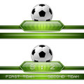 Soccer button symbol football with green for score information Royalty Free Stock Photos