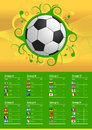 Soccer championship flags and ball the fifa world cup will be the th fifa world cup an international men s football tournament Stock Image