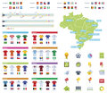 Soccer championship infographic elements set of the related icons and Stock Images