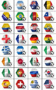 Soccer championship nations set of all national flags participating in the world Stock Images