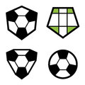 Soccer club emblem ball Royalty Free Stock Photo