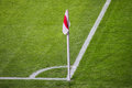 Soccer corner flag Royalty Free Stock Photo