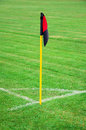 Soccer corner kick flag Stock Photography