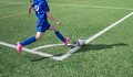 Soccer Corner Kick Royalty Free Stock Photo