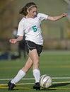 Soccer cross kick Royalty Free Stock Photo