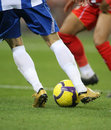 Soccer dribbling Royalty Free Stock Photo
