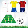 Soccer elements set Royalty Free Stock Photo