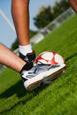 Soccer Feet Royalty Free Stock Photo