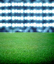 Soccer field and the bright lights Royalty Free Stock Image