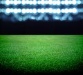 Soccer field and the bright lights Royalty Free Stock Photos