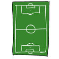 Soccer field cartoon Royalty Free Stock Photography