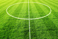 Soccer field with circle Stock Images