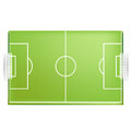 Soccer field or football field from above view Royalty Free Stock Photo