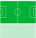 Soccer field illustration of a Royalty Free Stock Images