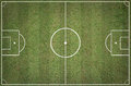 Soccer field layout Royalty Free Stock Photo