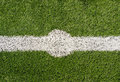 Soccer field point lines on green grass Stock Photography
