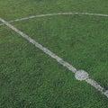 Soccer field stadium on the green grass, sport game b