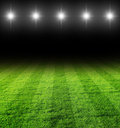 Soccer filed at night Royalty Free Stock Image