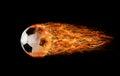 Soccer fireball Royalty Free Stock Photo